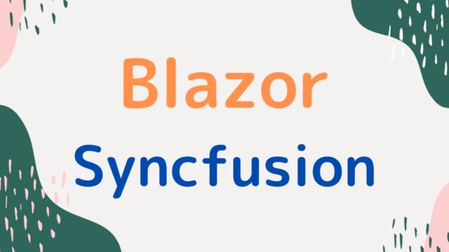 blazor-syncfusion